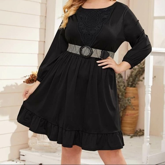New! Plus Size Smock Dress
